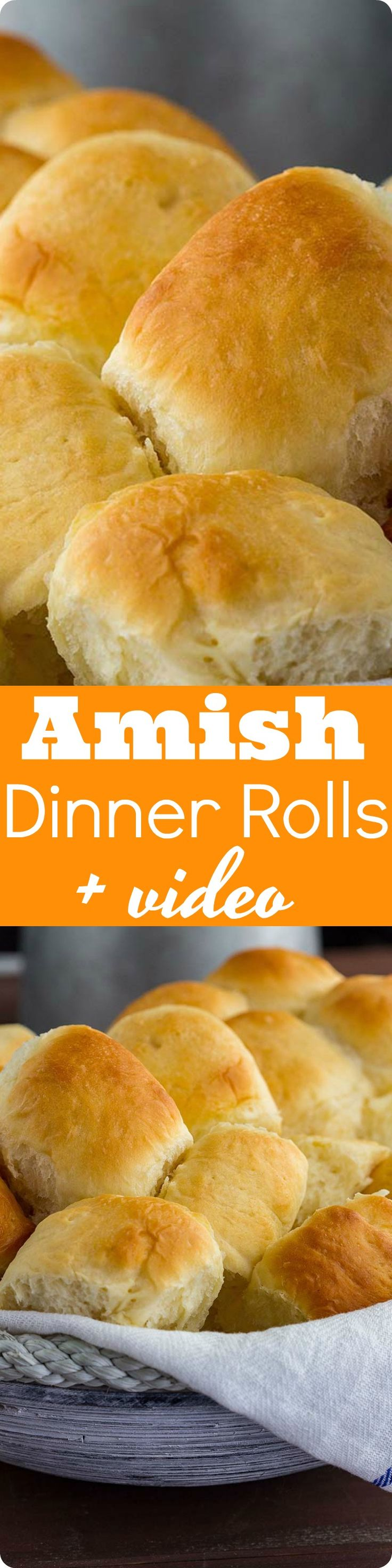 Amish Dinner Rolls | Soft yeast rolls recipe for warm fluffy buns. Made with instant mashed potato flakes, best served with any dinner comfort food. Find recipe at redstaryeast.com.