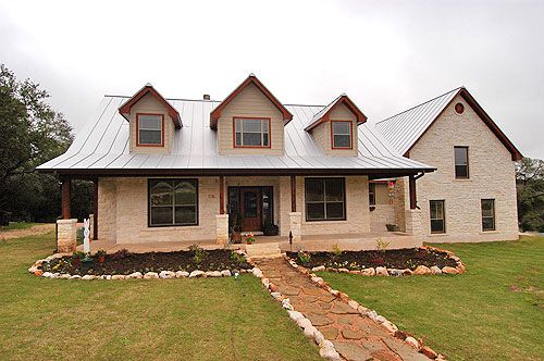 Limestone house metal roof google search roofing for Stone and cedar homes