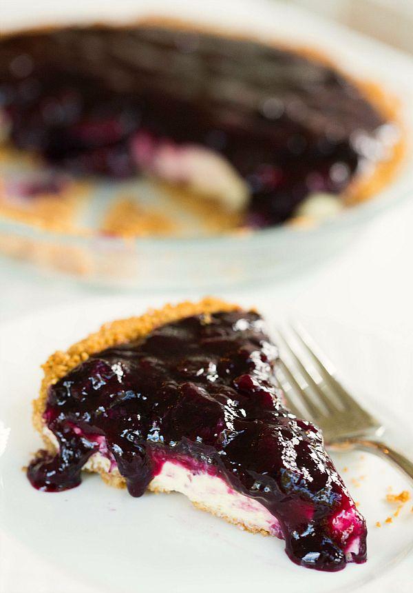 Blueberry Cheesecake Pie by @Michelle (Brown Eyed Baker) :: www.browneyedbaker.com