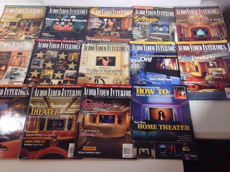 Vintage Audio Video Interiors Magazine Lot 1999 2000 2001 home Theater Design  | eBay