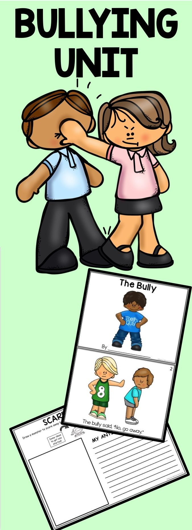 Anti-Bullying activities (writing, reading, art and more!) for K-3. Home-school too!