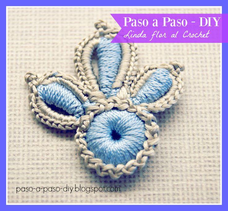 Flor de Tres Pétalos al Crochet - Paso a Paso