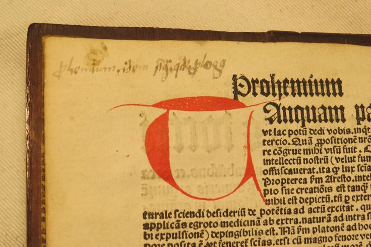 Inc 2. Author: Alexander, de Villa Dei . Title: Grammatica Latina Alexandri. 1497: 1500. Rubrication of capitals in red and annotation in early hand.