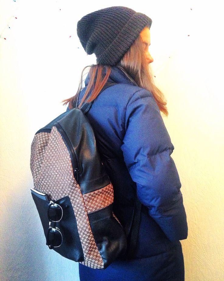 Backpack leather design