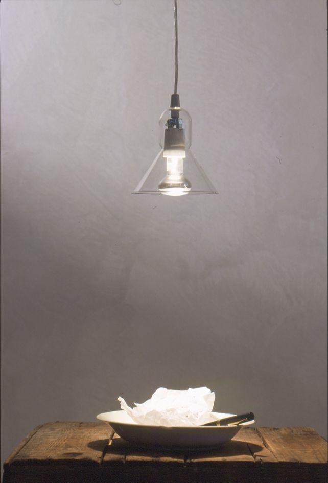 Produzione Privata Lampada Ipyramide transparent, borosilicate glass, 2002 Ph. Michele De Lucchi