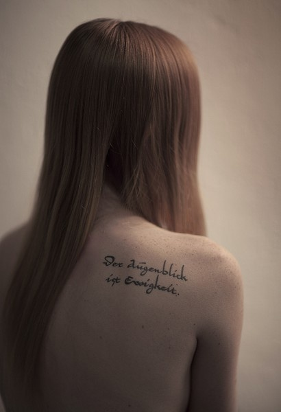 I love word tattoos. - Noticed this while looking for inspirational quotes! Found via levin_pompetzki