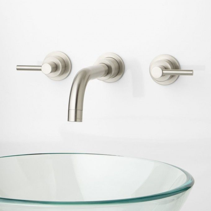 Tipton Wall-Mount Bathroom Faucet - Lever Handles