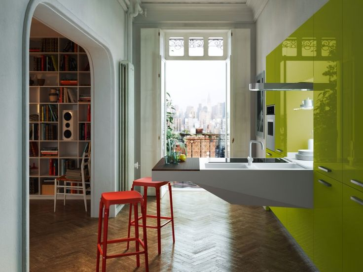 La Cuisine Board De Snaidero Permet Du0027aménager Une Cuisine Design Pour Des  Espaces Restreints
