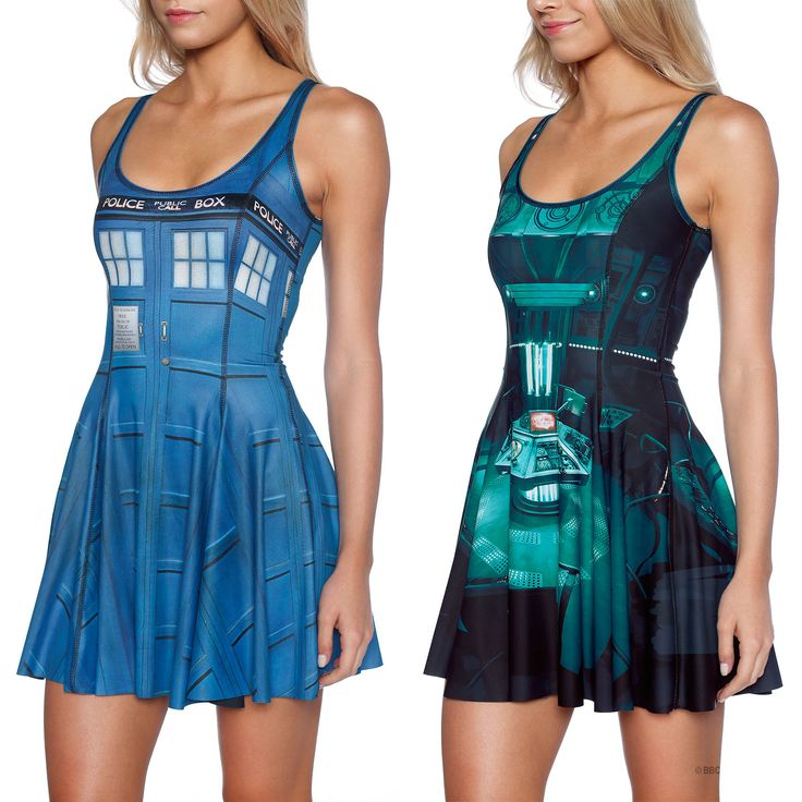 Tardis Inside Out Dress (WW ONLY $180AUD) by Black Milk Clothing