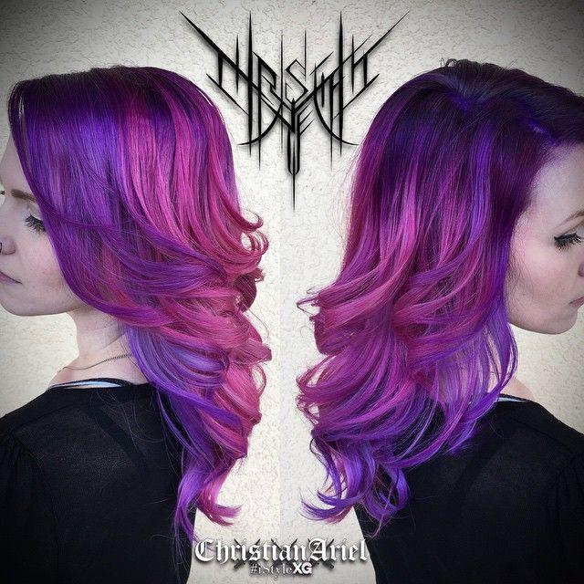 #ChristianAriel purple hair. best colorist in Tampa