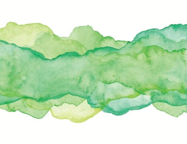 Green Watercolor Abstract Vector Art Illustration Watercolor
