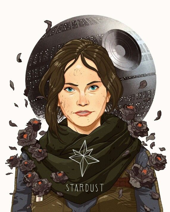 Stardust, jyn erso fan art ✊✊ Print and stuff available at www.society6.com/deadberries
