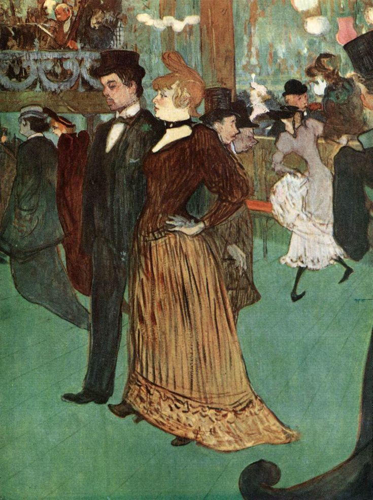 Henri de Toulouse-Lautrec, At the Moulin Rouge or The Promenade, 1891-92, Oil on cardboard, 80 x 65 cm, Private collection