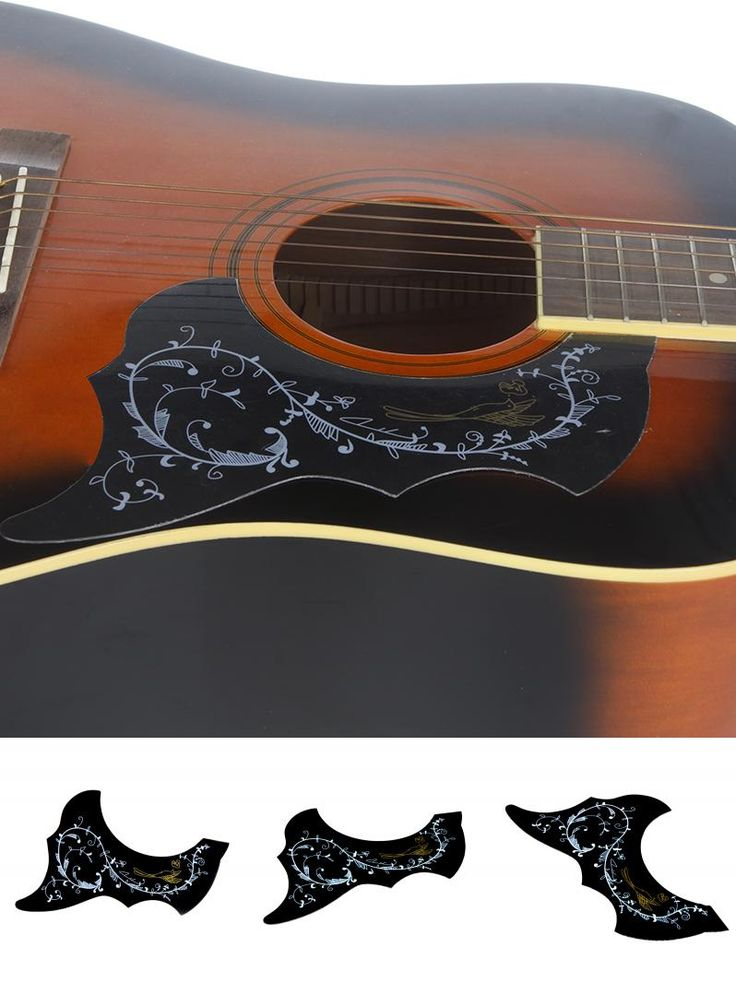 """[Visit to Buy] Homeland Bird & Flowers Printed Electric Acoustic Guitar Pickguard For 41"""" Size Guitar Pick Guard Plastic Accessories  #Advertisement"""