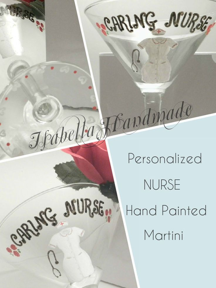 psychiatric nurse resume%0A Caring Nurse Hand Painted Martini Glass