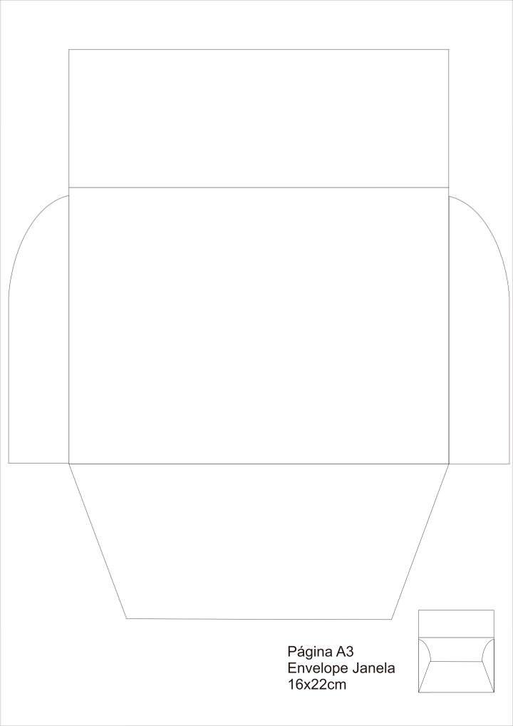 Molde do Modelo Janela Moldes de Envelopes para Convites de Casamento | Clube Noivas
