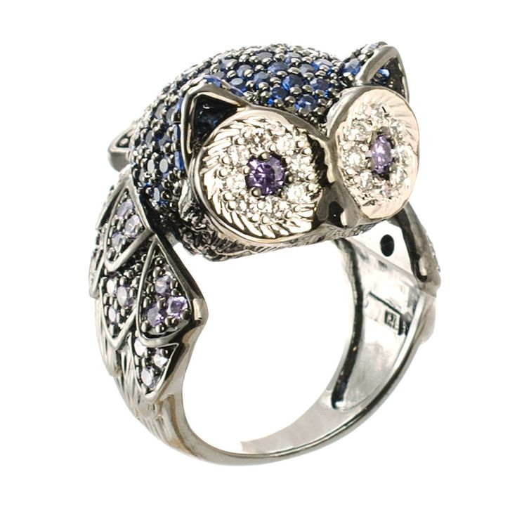 {blinged out Owl Ring} Kenneth Jay Lane