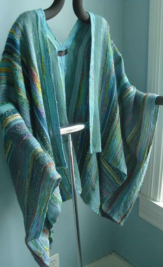 Handwoven Jacket / Shawl/ by barefootweaver