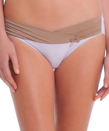 Take a look at this Iris Alix Comfort Under-Belly Maternity Bikini Briefs by Les Lunes on #zulily today!