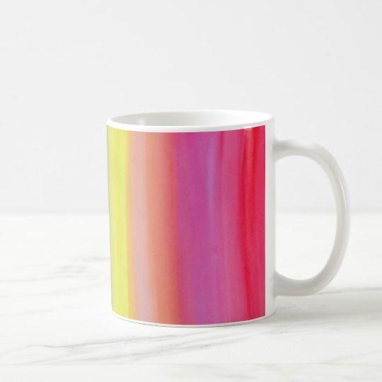Ombre Watercolor Print Mug Summer Colours: