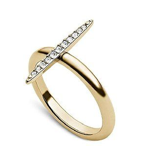 Sexy Unique #HighFashion Crystal Pave Matchstick Ring by #MichaelKors #krissylovesbling