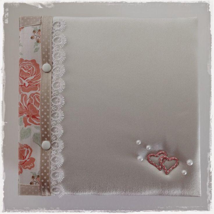 Wedding album with silk binding, made by me. Click on the link below. www.szivtolszivig.blogspot.com