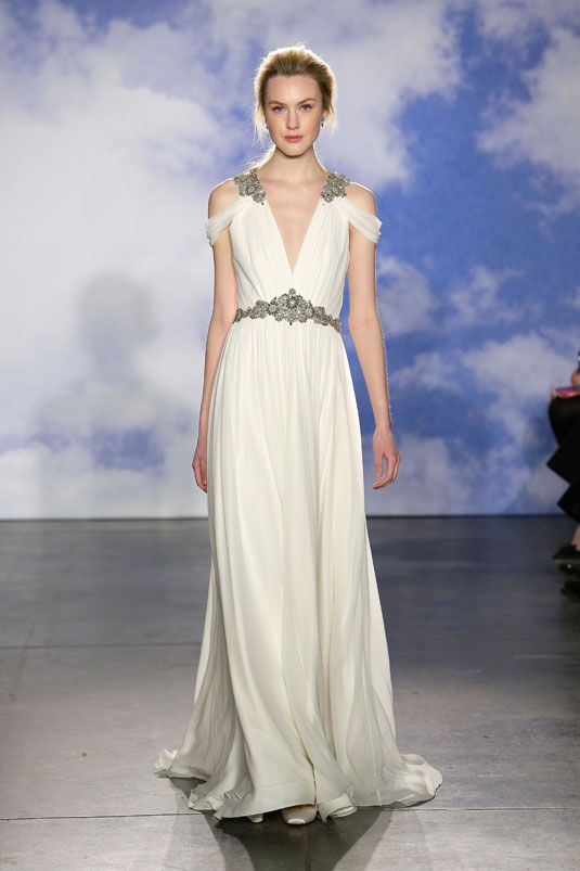 A gorgeous Grecian wedding dress. From the Jenny Packham bridal spring 2015 collection.