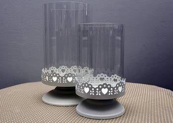 Lampiony - świeczniki komplet 2 szt