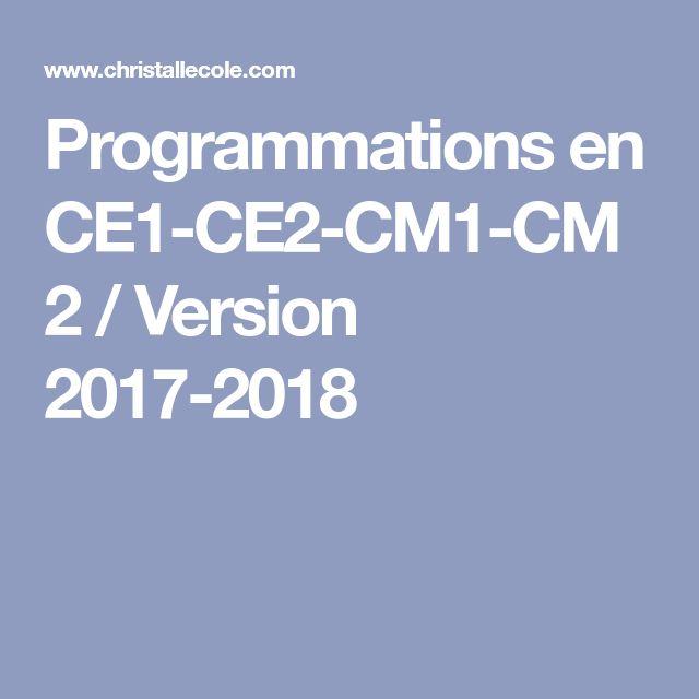 Programmations en CE1-CE2-CM1-CM2 / Version 2017-2018