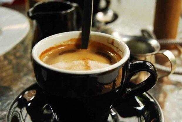 Long Black, Cafe Byzantium, Ponsonby, Auckland.