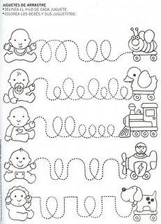 Fichas laberinto para infantil. Recursos escolares