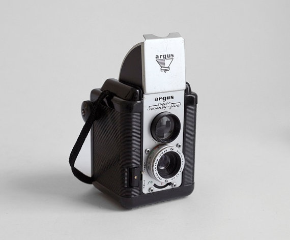 Vintage Camera with Flash  Mid Century Retro Flash by Hindsvik, $60.00