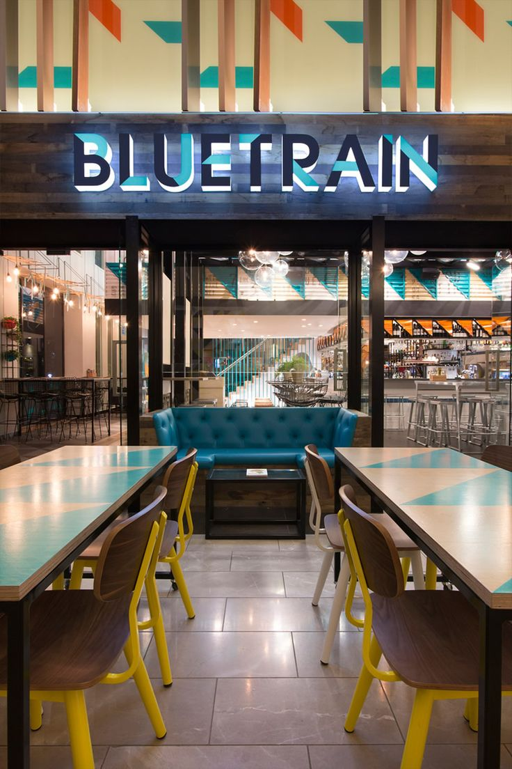 bluetrain studio equator the use of graphic pattern is repeated through the illustrated branding system there are references to the resturants interior - Beaded Inset Restaurant Interior