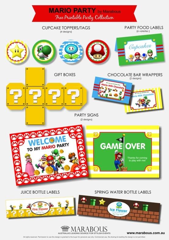 FREE Mario Party Printables