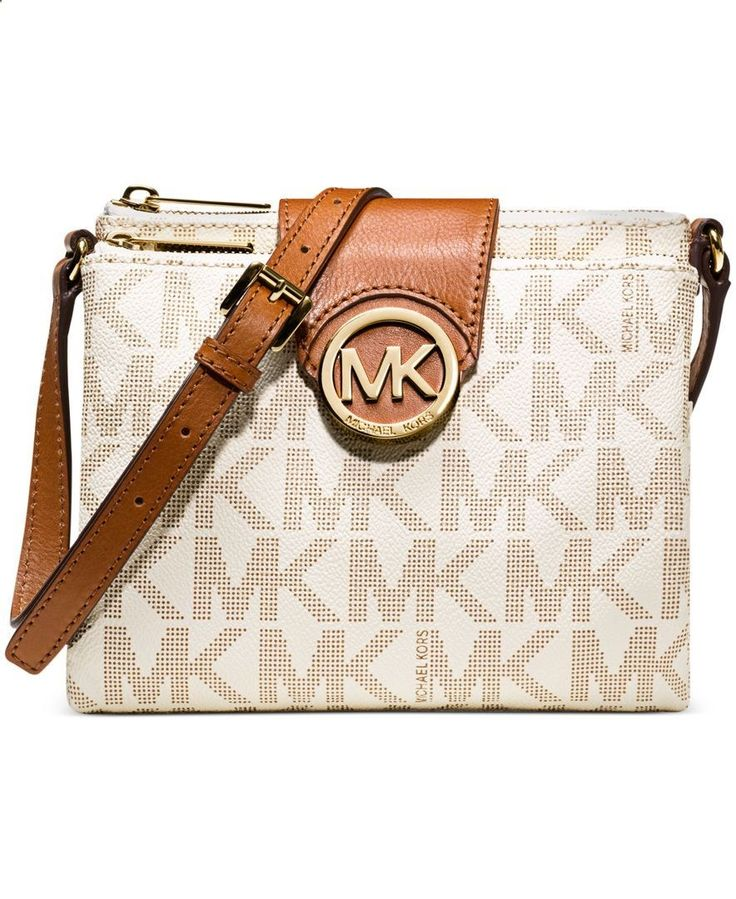 I think i want one: MICHAEL Michael Kors Handbag, Fulton Large Crossbody - Crossbody Messenger Bags - Handbags Accessories - Macys