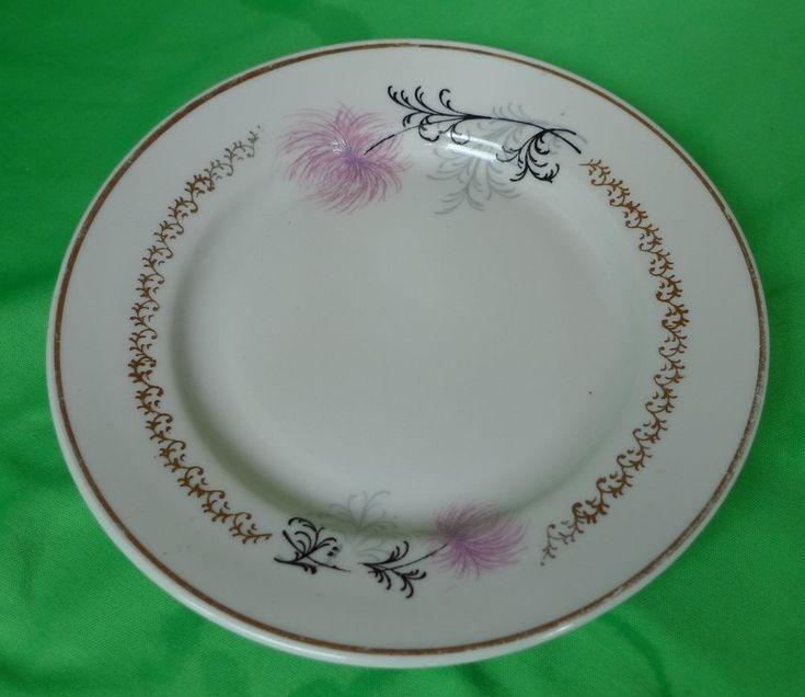 Vintage Latvia USSR Soviet Porcelain factory RPR Riga white desert salad plate