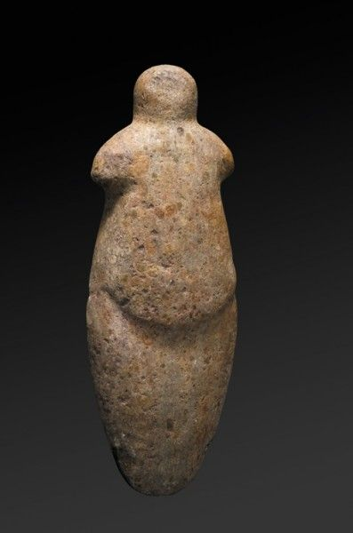 Stone Idol, beautiful in its simplicity of form - Sahara. Brancusi and Modigliani would have liked this.