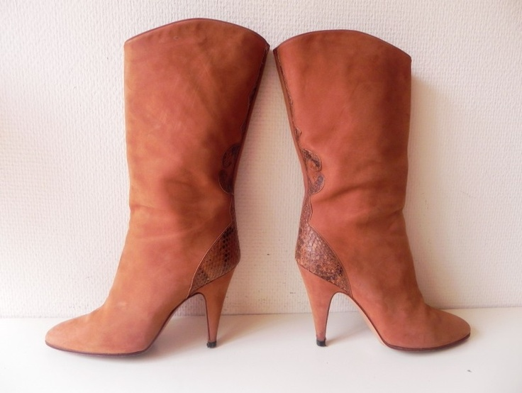 Ciro Bisanti vintage high heels snake laarzen (1612) #vintage #boots