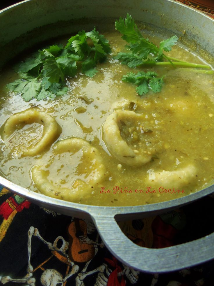 ... salsa verde or chile rojo sauce with a little added chicken broth. And