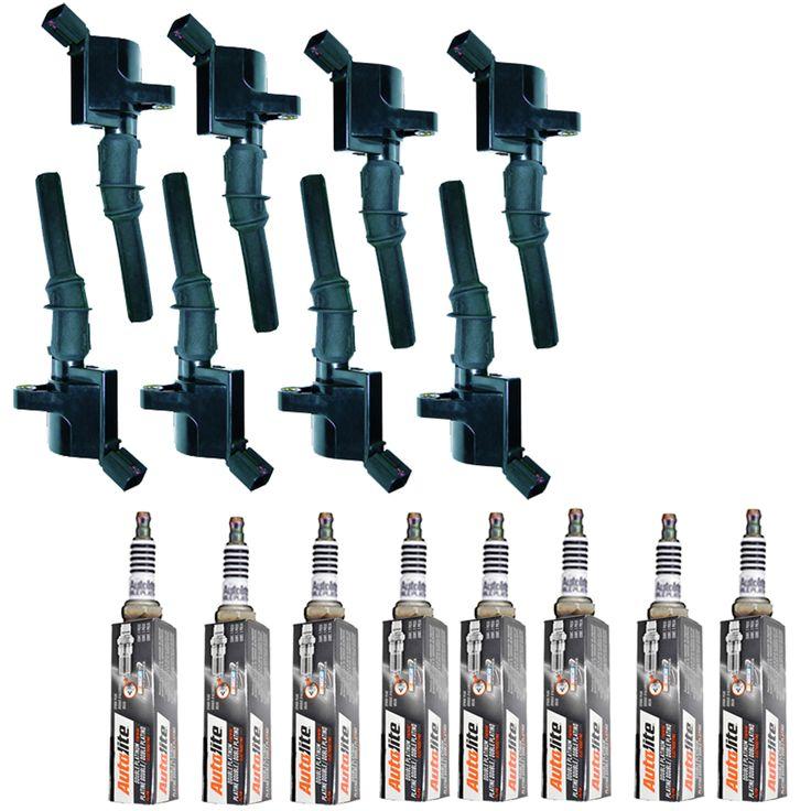 2000-2010 Ford F150 4.6L ignition coil 8x+8x dbl plat spark plug
