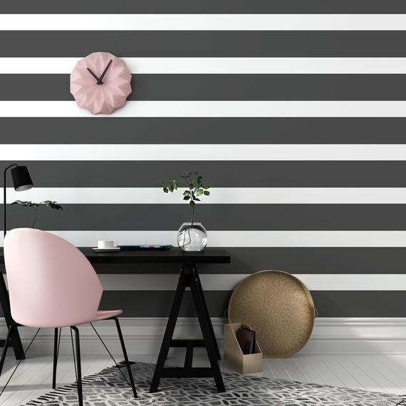 Gray Striped Wallpaper Nursery Geometric Self Adhesive Wall Mural Grey Lines Peel Stick Decal Minimalist Wall Decor Graystripedwalls G Grey Striped Wallpaper Striped Wallpaper Striped Wallpaper Nursery