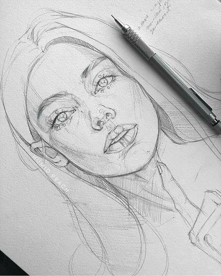 Amazing sketch! By HUMID PEACH . Follow us @art.discover for more