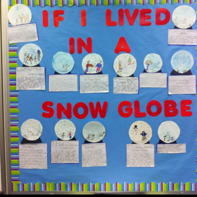 Stuck in a snow globe writing activity for middle school