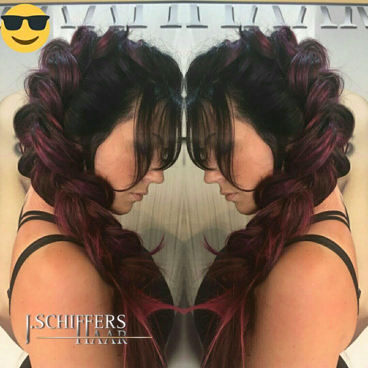 Ombre Balayage Flechten Avantgarde @schiffershaar  #schiffershaar #ombre #ombrebalayage #ombrehair #farbverlauf #colorationexpert #haarfarbexperte #langehaare #langhaarfrisuren #vipstyling #viphair #bloggers #bloggen #ombreviolet #extensions #haartapes #haarverlängerung #promifriseur #köln #cologne #hairstylist Olaplex LaBiosThetique Paris