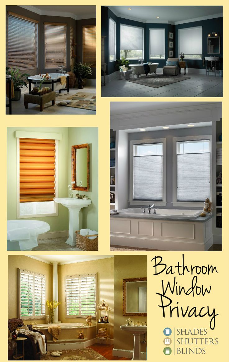 Best Shades  Shutters and Blinds for Bathroom Window Privacy    bathroom   homedecor. 34 best Honeycomb Shades images on Pinterest