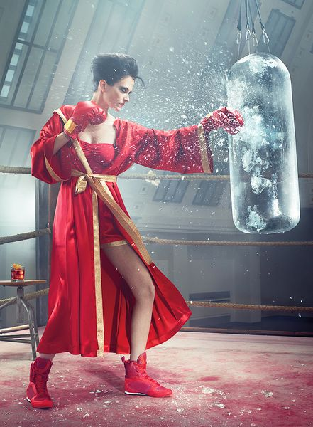 Lady In Red: Eva Green for Campari Calendar 2015