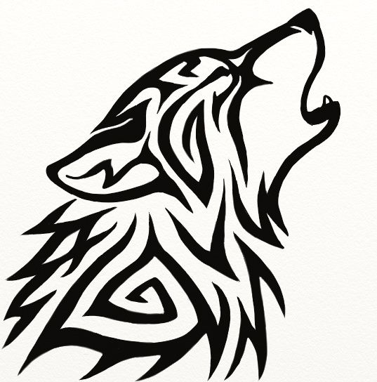 Easy Tribal Wolf Drawings a hero is one who knows how to hang on one ...