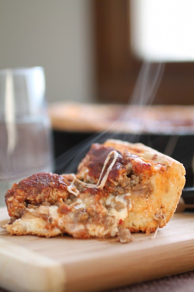 Deep dish skillet pizza from Life as a Strawberry.