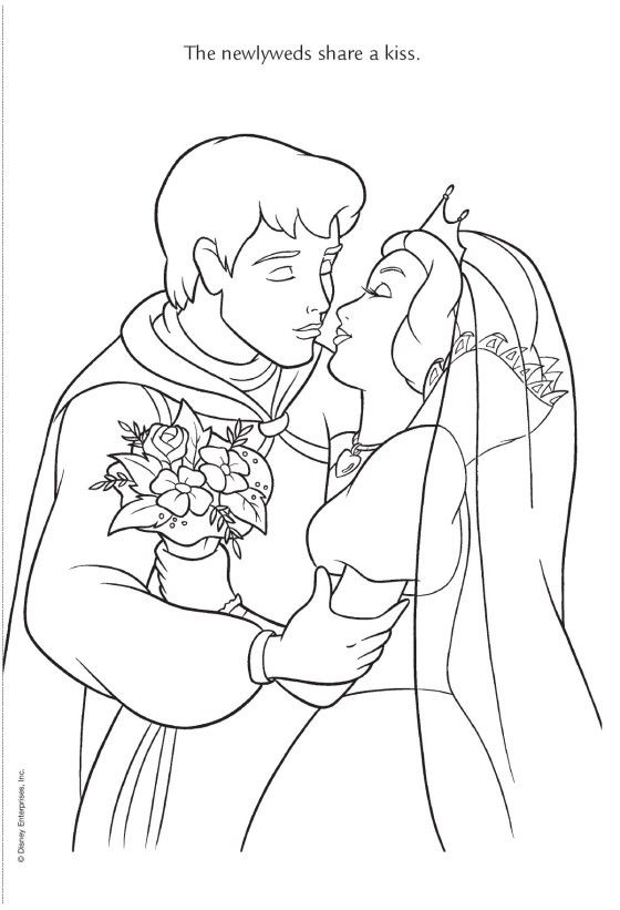 disney wedding coloring pages - photo#17