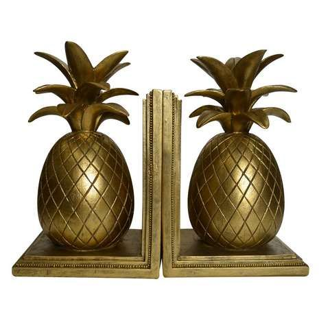 Colonial Charm Pineapple Bookends | Dunelm